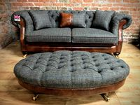 Large Oval Footstool in 3 colours